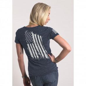 WOMEN'S AMERICA T-SHIRT - NAVY - MEDIUM
