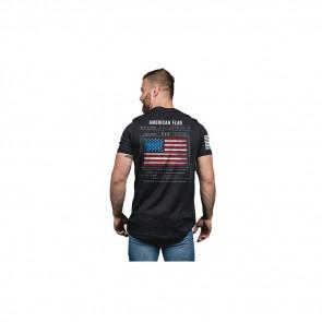 MEN'S T-SHIRT AMERICAN FLAG SCHEMATIC