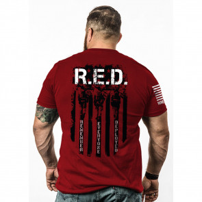 MEN'S RED REMEMBER EVERYONE DEPLOYED T-SHIRT - 2X-LARGE