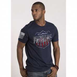 MEN'S RELENTLESSLY PATRIOTIC T-SHIRT - MIDNIGHT NAVY - SMALL