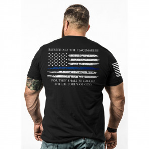 THIN BLUE LINE MEN'S T-SHIRT - BLACK, X-LARGE