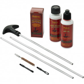 RIFLE 22 CAL CLEANING KIT ALUMINUM RODS CLAM SHELL