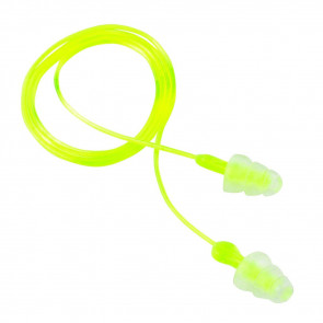 PELTOR SPORT TRI-FLANGE REUSABLE EARPLUGS - YELLOW