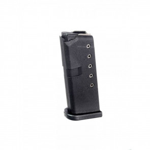 GLOCK 43 MAGAZINE - 9MM, 6RD, BLACK POLYMER