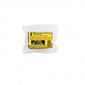 COTTON FLANNEL PATCHES - .270-.38 CALIBER, 100 COUNT