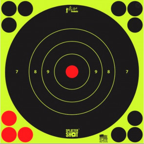 """SPLATTERSHOT TARGETS - 12"""" GREEN BULLSEYE TARGET - 5 PACK"""