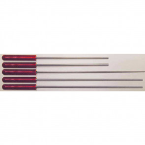 "MICRO-POLISHED STAINLESS STEEL CLEANING ROD - 42"" RIFLE, .22-.26 CALIBER"