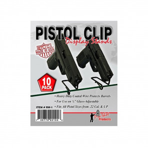 PISTOL CLIP FRONG GLASS DISPLAY 10 PK
