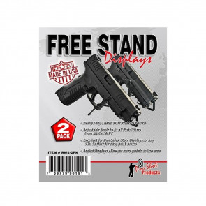 FREE STAND PISTOL DISPLAY 2 PK