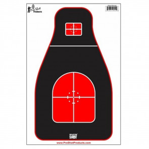 TACTICAL PRECISION TGT RED/BLACK 8 PACK