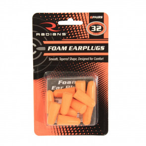 RADIANS RESISTOR® 32 DISPOSABLE FOAM EARPLUGS - 6 PAIR UNCORDED