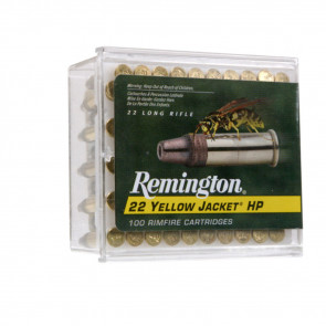 YELLOW JACKET® AMMUNITION - 22 LONG RIFLE, PLATED HOLLOW POINT, 33 GR, 100/BX