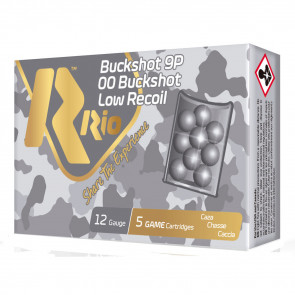 "ROYAL BUCK LOW RECOIL SHOTSHELLS - 12 GAUGE, 2-3/4"", 00 BUCK, 9PEL, 1200FPS, 5/BX"