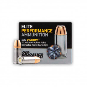 PISTOL V-CROWN ELITE 10MM 180 GR AMMO, 20 ROUNDS