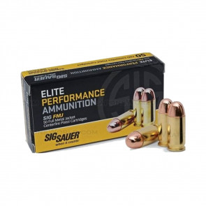 PISTOL ELITE BALL AMMO - 357 SIG, 125 GR, 50 ROUNDS