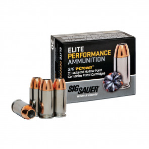 PISTOL V-CROWN ELITE AMMUNITION - 380 AUTO, 90 GR, 20 ROUNDS