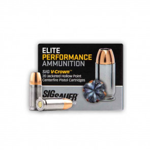 PISTOL V-CROWN ELITE AMMUNITION - 38 SUPER, 125 GR, 20 ROUNDS