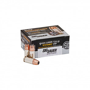 PISTOL V-CROWN ELITE 9MM LUGER 124GR AMMO