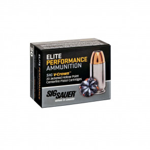 PISTOL V-CROWN ELITE 9MM LUGER 147GR AMMO