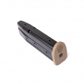 P250/P320 SIG FACTORY MAGAZINE - 9MM, 17RD, BLUED W/COYOTE FLOORPLATE