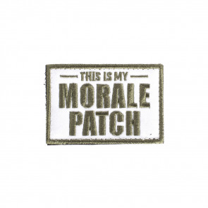 MORALE FLAG PATCH - THIS IS MY MORALE PATCH, GREEN