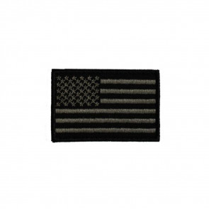 US FLAG BLACK PATCH