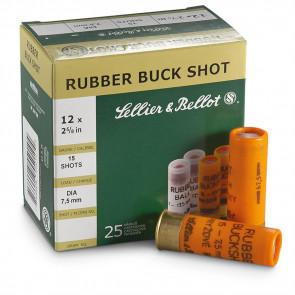 SHOTSHELLS RUBBER BUCK SHOT 25RD/BX