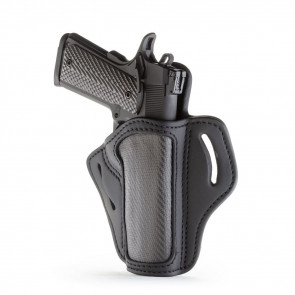 PROJECT STEALTH OWB MULTI-FIT BELT HOLSTER - CARBON FIBER - RIGHT HAND - BRN HP, COLT 1911, KIMBER 1911