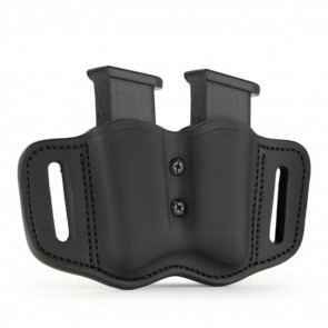 TWO DOUBLE STACK POLYMER MAGAZINE CARRIER - STEALTH BLACK