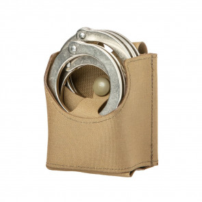 HANDCUFFS DOUBLE POUCH OPEN TOP - COYOTE BROWN
