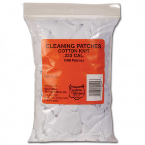 COTTON KNIT CLEANING PATCHES - .223 CALIBER, 1000 BULK BAG
