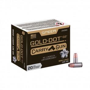 GOLD DOT CARRY GUN 9MM LUGER - 20/BX