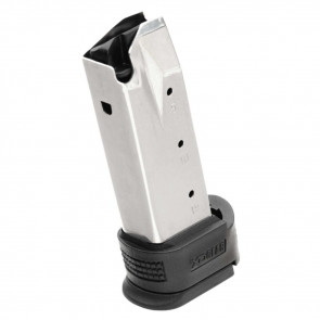 SPRINGFIELD XD COMPACT FACTORY MAGAZINE -  45 ACP, 10 ROUNDS, WITH BLACK X-TENSION, STAINLESS