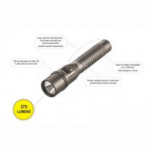 STRION®  DS HL FLASHLIGHT - 120V AC/DC CHARGER, 1 HOLDER, BLACK, CLAM