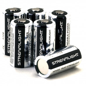 LITHIUM CR 123 BATTERIES - (6 PACK)