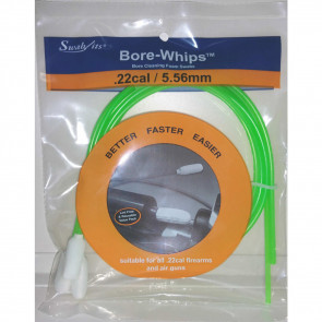GUN CLEANING BORE-WHIPS: 3-PIECE PACKAGE, .22 CAL.