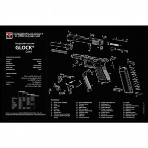 "GLOCK GEN 4 CLEANING MAT  - 11"" X 17"""