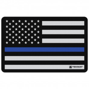 "POLICE SUPPORT FLAG CLEANING MAT - 11"" X 17"""