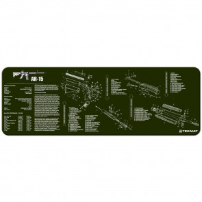 """AR-15 CLEANING MAT - 12"""" X 36"""" - OD"""