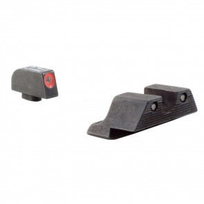GLOCK HD NIGHT SIGHT SET - ORANGE FRONT OUTLINE - MODEL 17 / 17L / 19 / 22 / 23 / 24 / 26 / 27 / 33 / 34 / 35 / 38 / 39