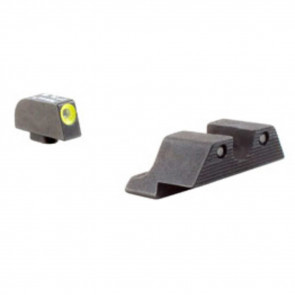 GLOCK HD NIGHT SIGHT SET - YELLOW FRONT OUTLINE - MODEL 17 / 17L / 19 / 22 / 23 / 24 / 26 / 27 / 33 / 34 / 35 / 38 / 39