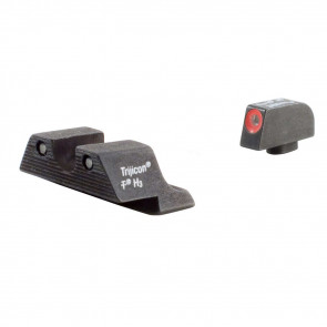 GLOCK LARGE FRAME HD NIGHT SIGHT SET - ORANGE FRONT OUTLINE - MODEL 20 / 21 / 21SF / 29 / 30