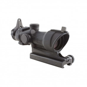 ACOG 4X32 SCOPE WITH AMBER CENTER ILLUMINATION FOR M4A1 INCLUDES FLAT TOP ADAPTER, BACKUP IRON SIGHTS AND DUST COVER  RIFLESCOPE