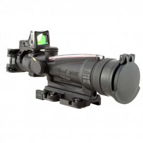 TRIJICON ACOG 3.5X35 SCOPE, DUAL ILLUMINATED RED HORSESHOE / DOT, M249 BALLISTIC RETICLE, 9.0 MOA RMR SIGHT AND LARUE TACTICAL M