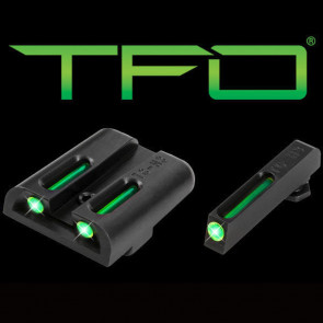 TFO TRITIUM/FIBER-OPTIC DAY/NIGHT SIGHT - GLOCK LOW, GREEN/GREEN