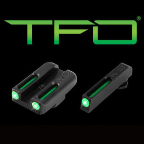 TFO TRITIUM/FIBER-OPTIC DAY/NIGHT SIGHT - GLOCK 42/43, GREEN/GREEN