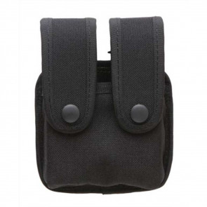 DOUBLE CASE WITH FLAPS FOR DOUBLE ROW MAGS - NYLON, BLACK