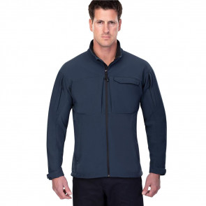 DOWNRANGE SOFT SHELL JACKET - BLUE, LARGE