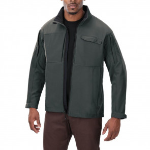 DOWNRANGE SOFT SHELL JACKET - GREY, MEDIUM