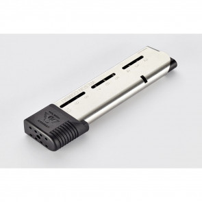 1911 ELITE TACTICAL MAGAZINE, .45ACP, FULL-SIZE, 10 ROUND, POLYMER EXTENDED BASE PAD, WITH FEED RAILS AMMUNITION SYSTEM